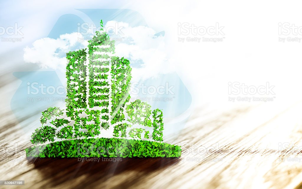 Sustainable urban development stock photo