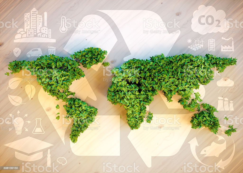 Sustainable world concept. stock photo