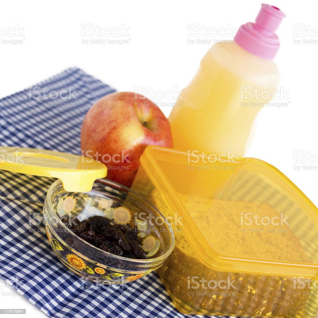 Sustainably Packed Lunch royalty-free stock photo
