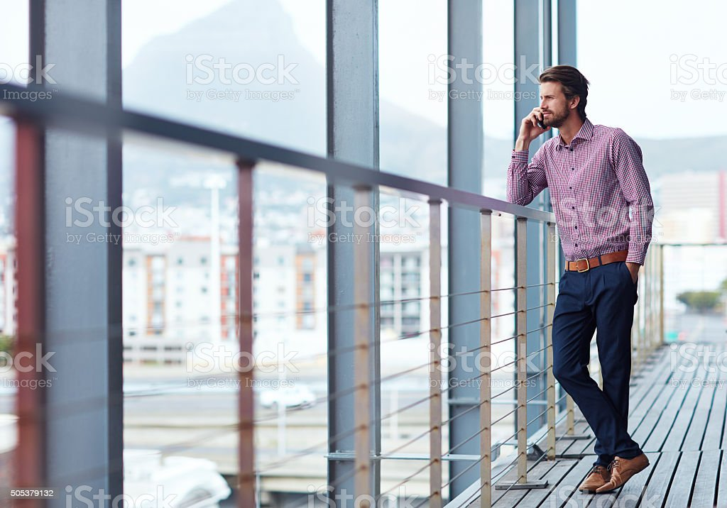 Sustaining business relationships over the phone stock photo
