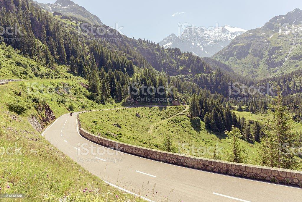 Sustenstrasse pass in Alsp stock photo
