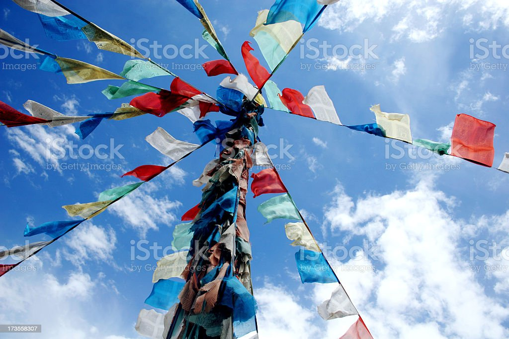 sutra flag royalty-free stock photo