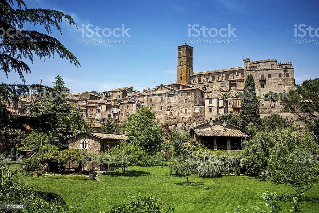 Sutri medieval town in Tuscia of Italy stock photo