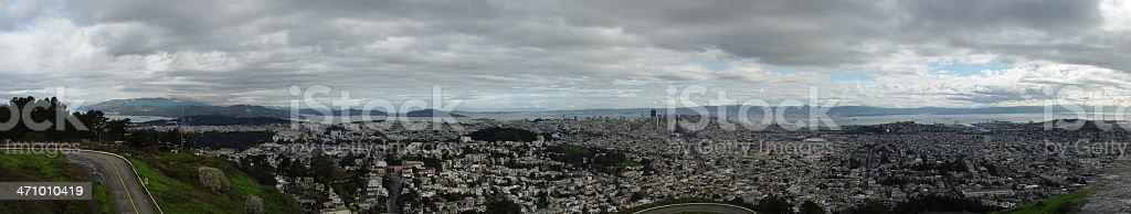 Sutro Hill SF-Panorama stock photo
