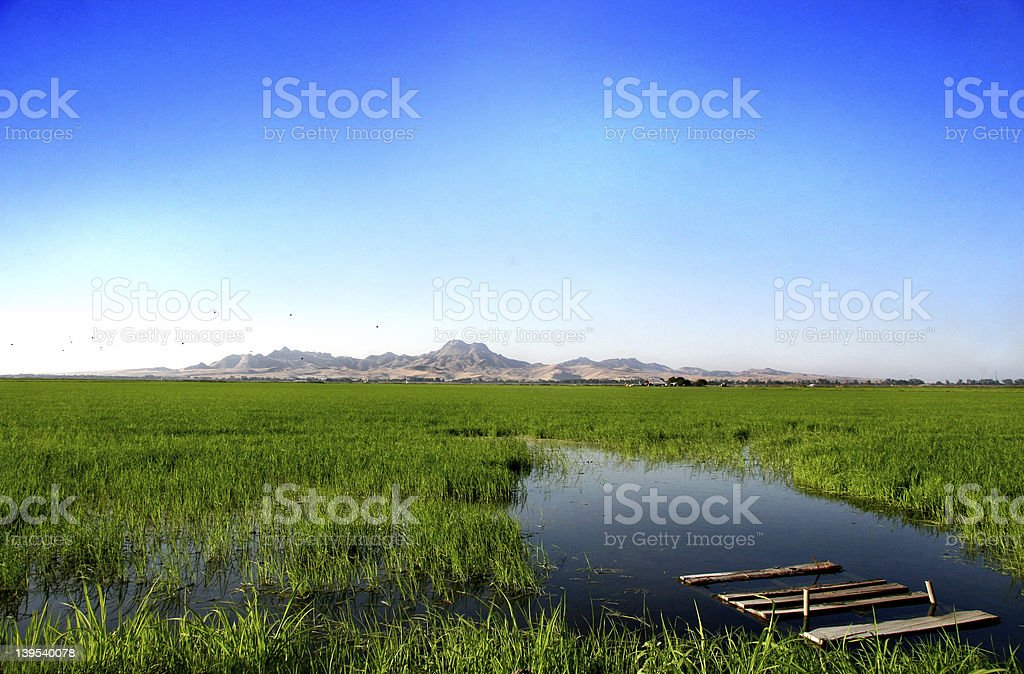 Sutter Buttes - The World's Smallest Mountain Range stock photo