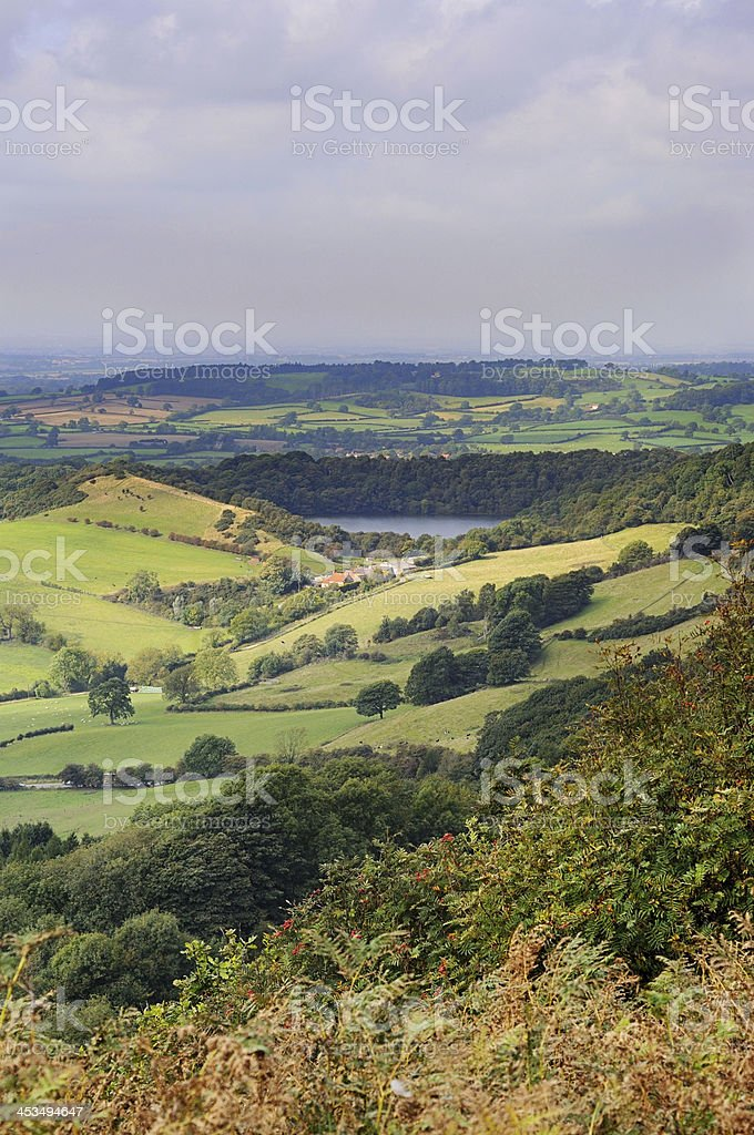 Sutton Bank, North York Moors, Yorkshire, England royalty-free stock photo