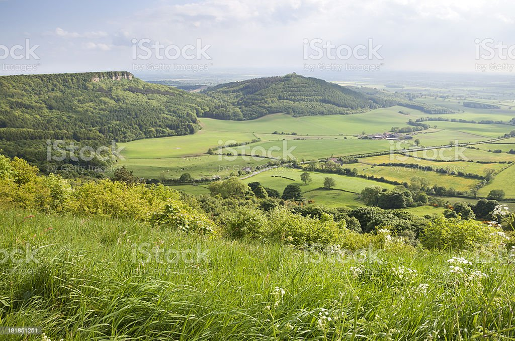 Sutton Bank, North Yorkshire royalty-free stock photo