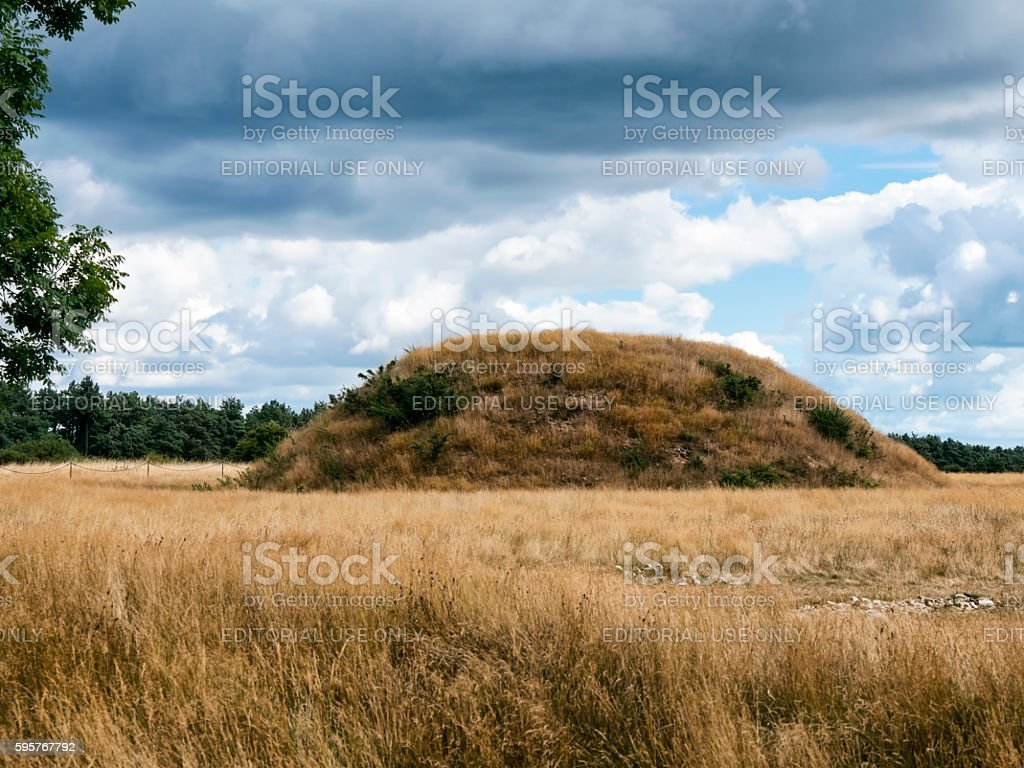 Sutton Hoo burial mound stock photo