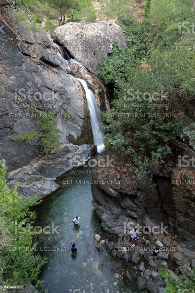 Sutuven Waterfall stock photo