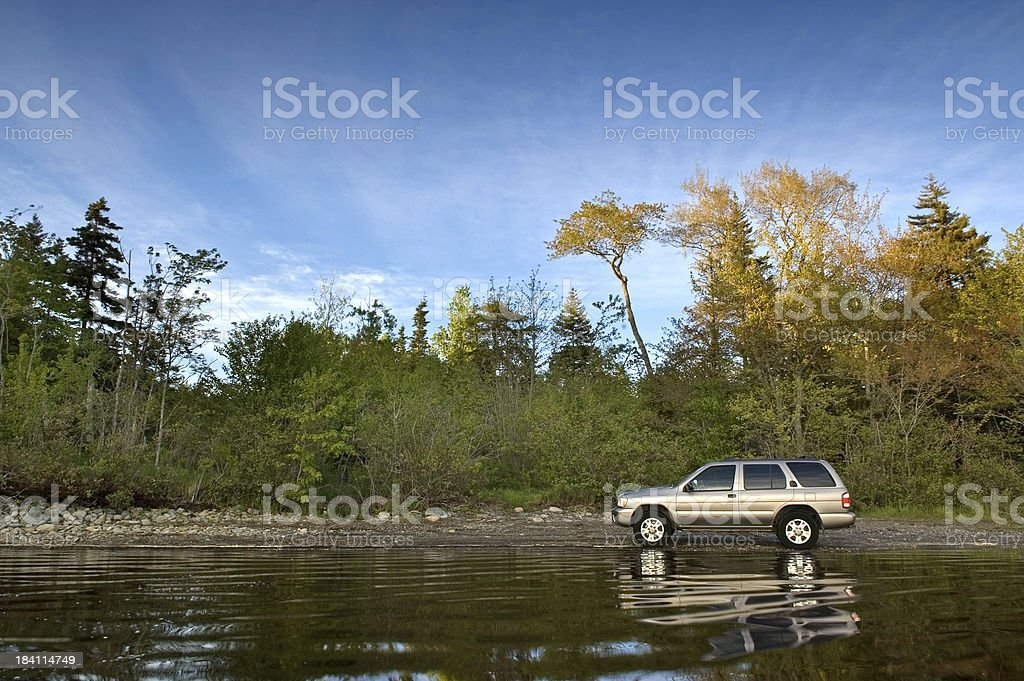 Suv by the Lake royalty-free stock photo