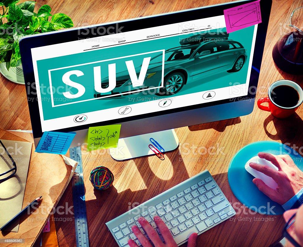 Suv Car Transportation Vehicle Generic Energy Concept stock photo