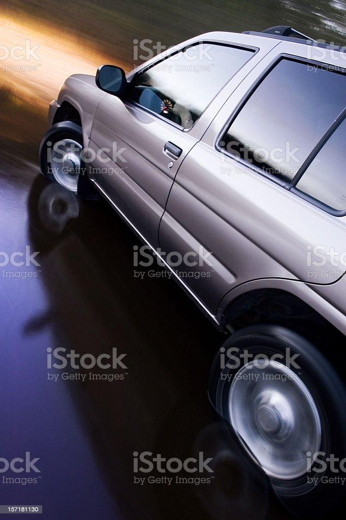 Suv in Motion stock photo