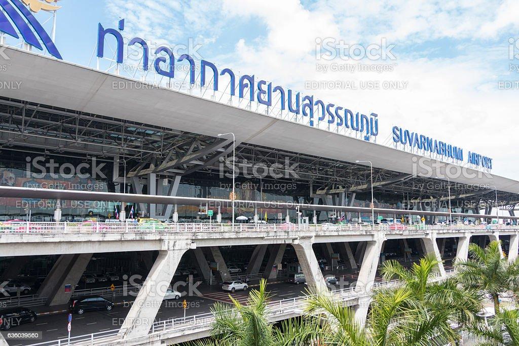 Suvarnabhumi Airport at day. stock photo