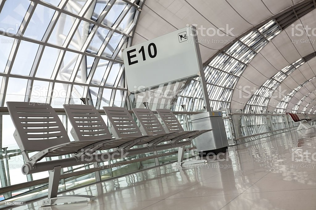 suvarnabhumi airport bangkok royalty-free stock photo