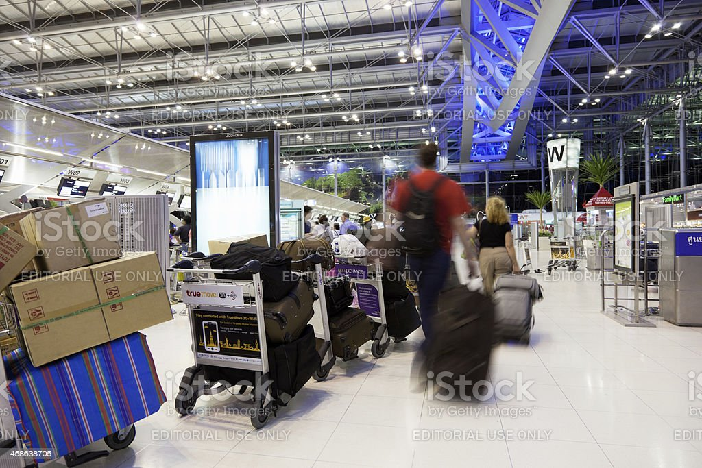 Suvarnabhumi international airport in Bangkok royalty-free stock photo
