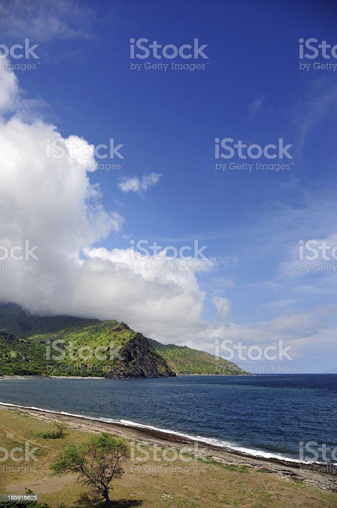 Suvida Beheda, East Timor: beautiful beach stock photo
