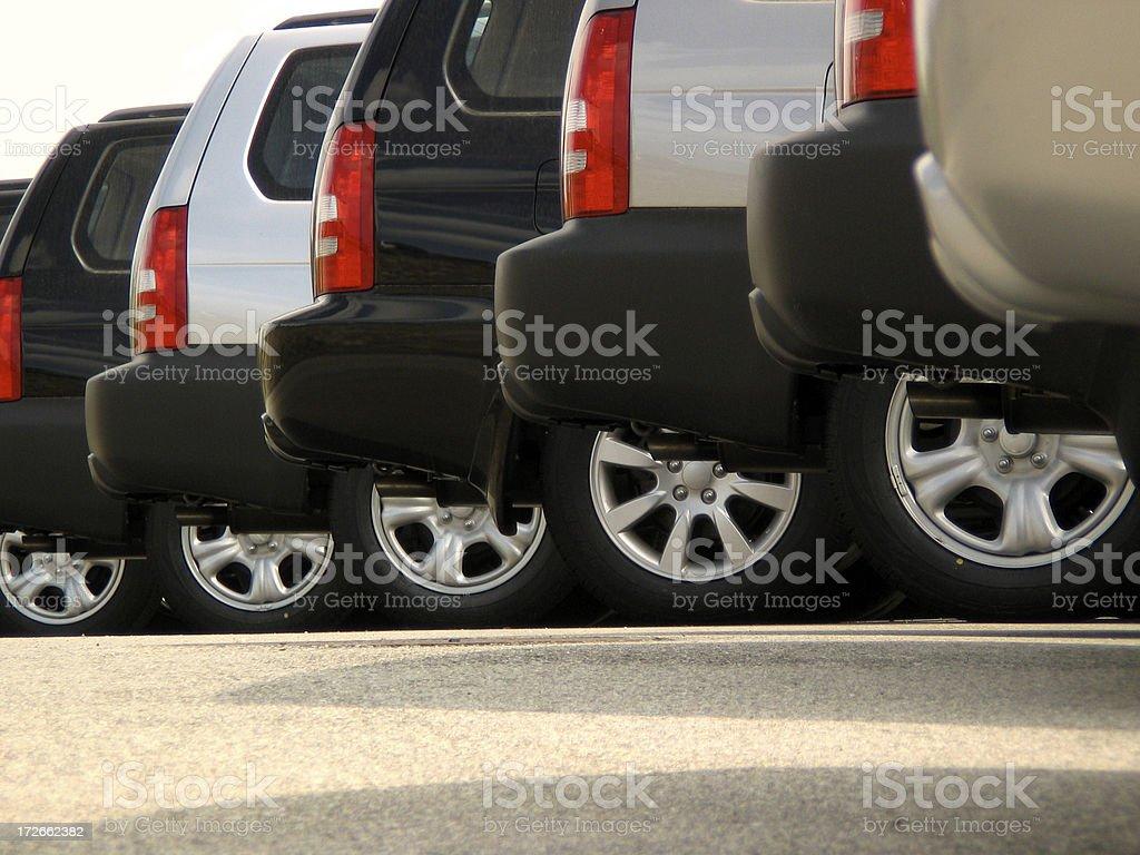 SUVs royalty-free stock photo
