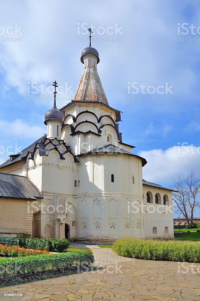 Suzdal. Church of the assumption stock photo