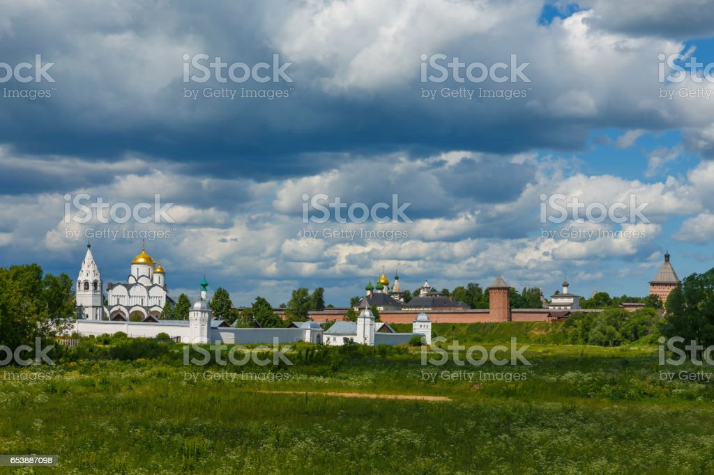 Suzdal, Golden ring of Russia. View of ancient Russian monasteries. stock photo