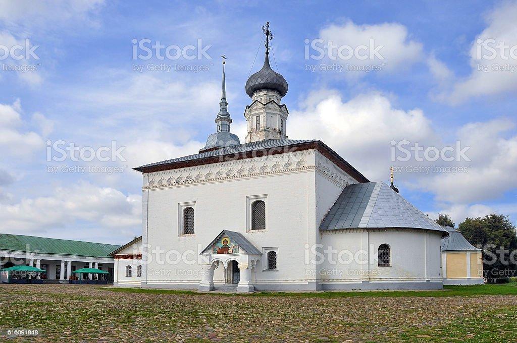 Suzdal. Kazan Church in shopping malls stock photo