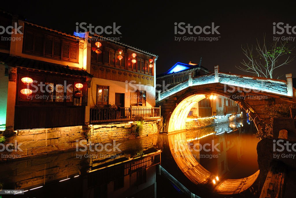 Suzhou Canal in China royalty-free stock photo