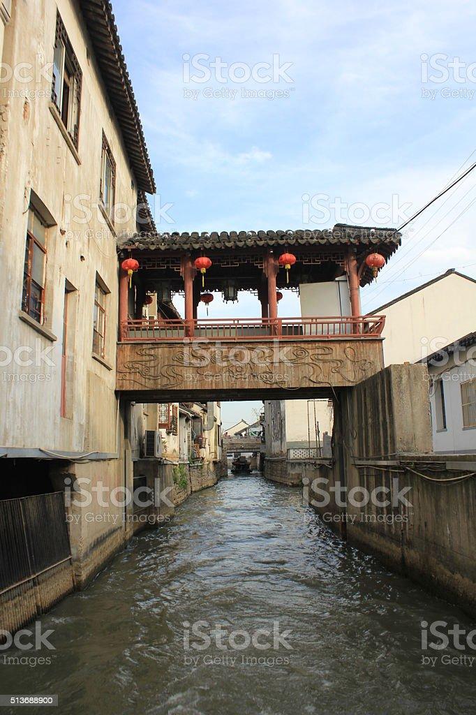 Suzhou canal stock photo
