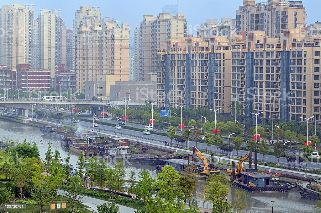 Suzhou Creek stock photo