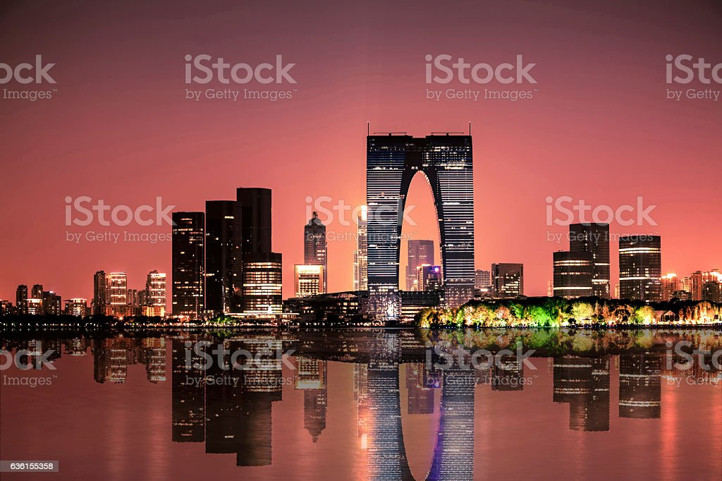 Suzhou Jinji lake stock photo