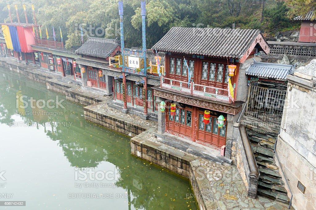 Suzhou Market Street at the Summer Palace - Beijng, China stock photo