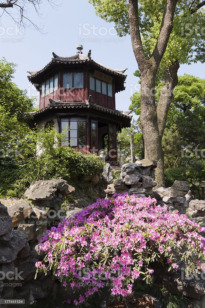Suzhou the humble administrator's garden stock photo