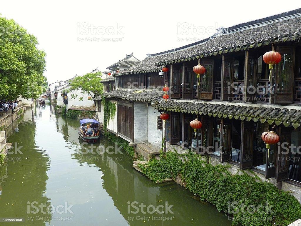 Suzhou 'Venice of China' royalty-free stock photo