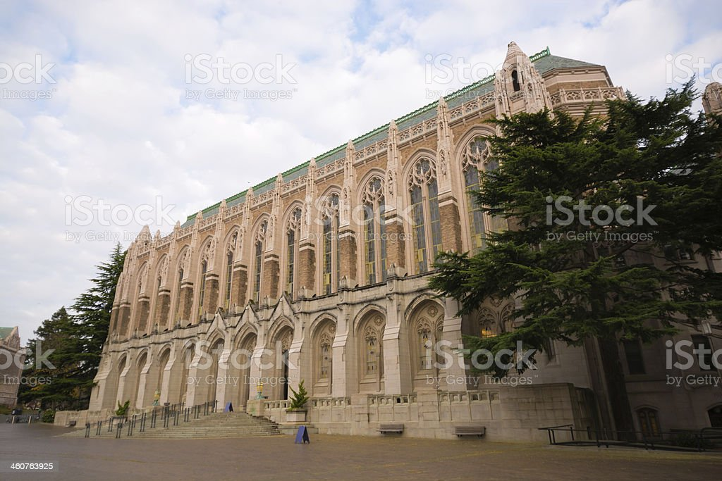Suzzallo Library at the University of Washington in Seattle royalty-free stock photo