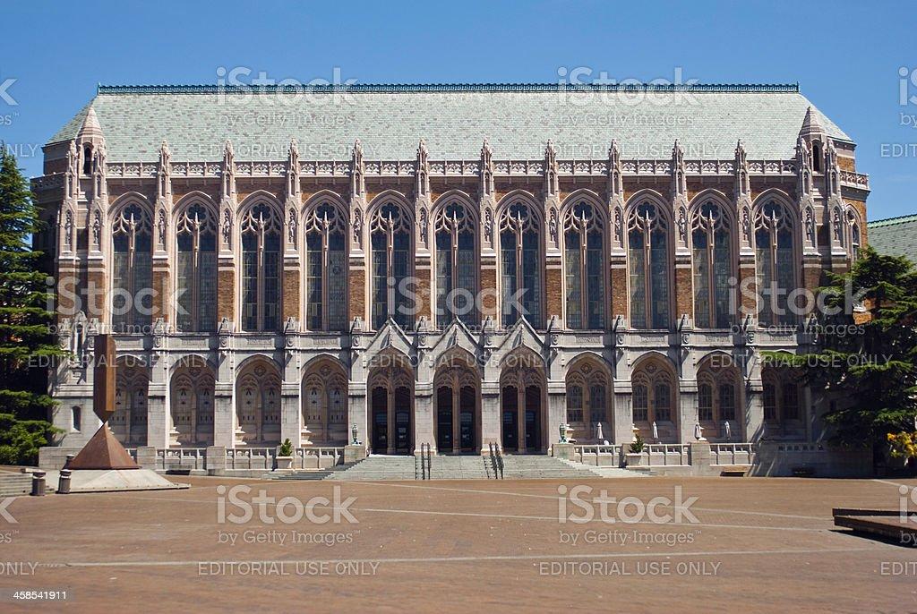 Suzzallo library at the University of Washington stock photo