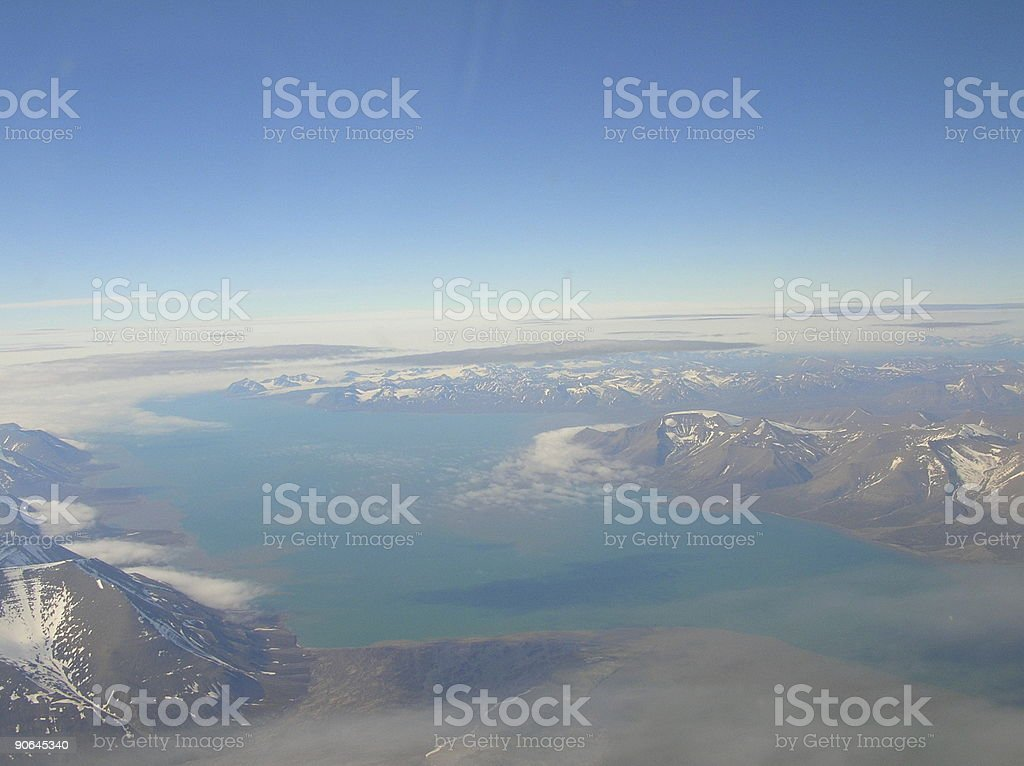 Svalbard aerial royalty-free stock photo