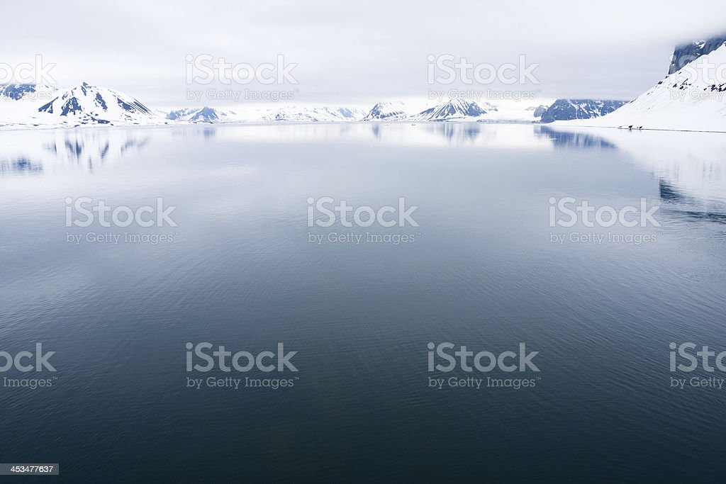 Svalbard in the Arctic stock photo