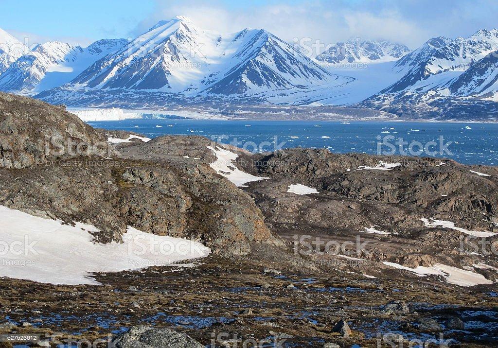 Svalbard scenery stock photo