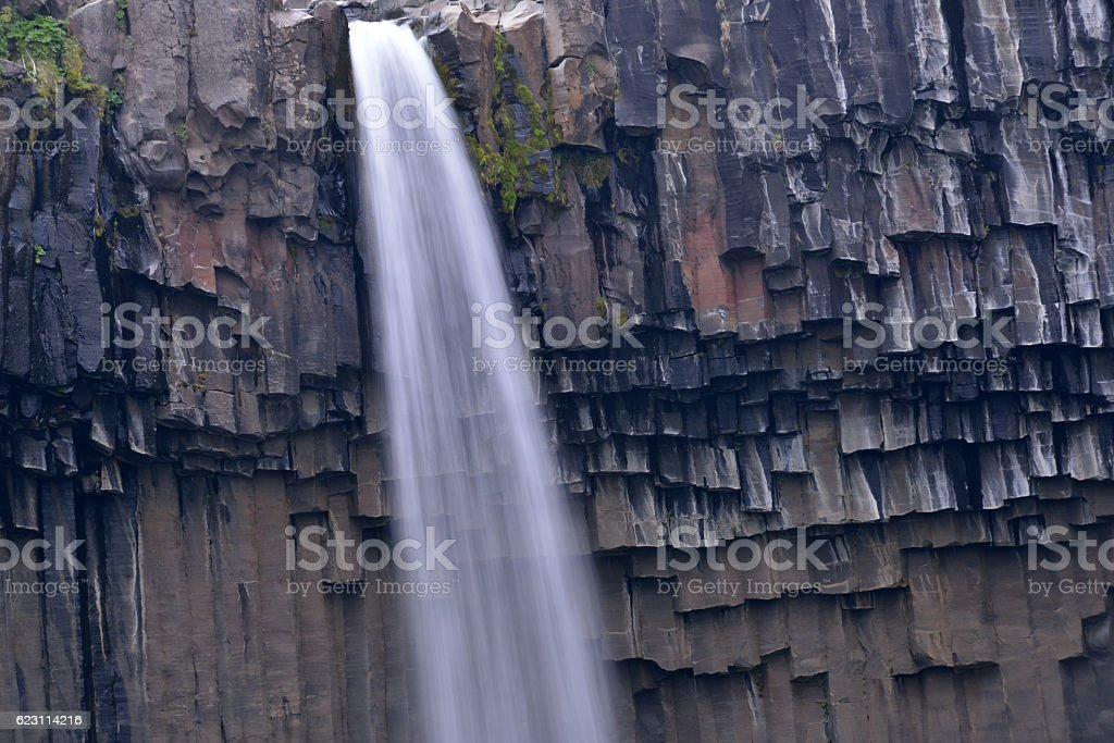 Svartifoss in Iceland stock photo