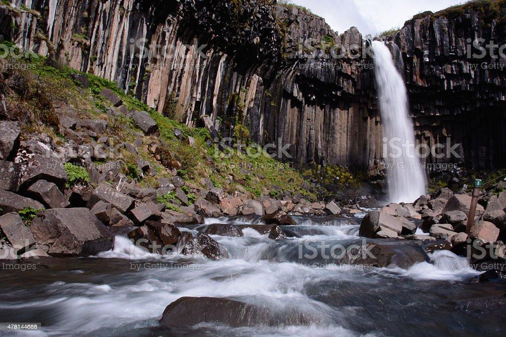 Svartifoss on Iceland royalty-free stock photo