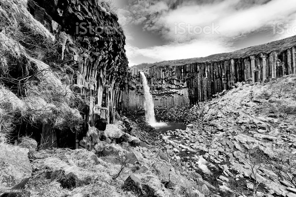 Svartifoss Waterfall, Iceland stock photo