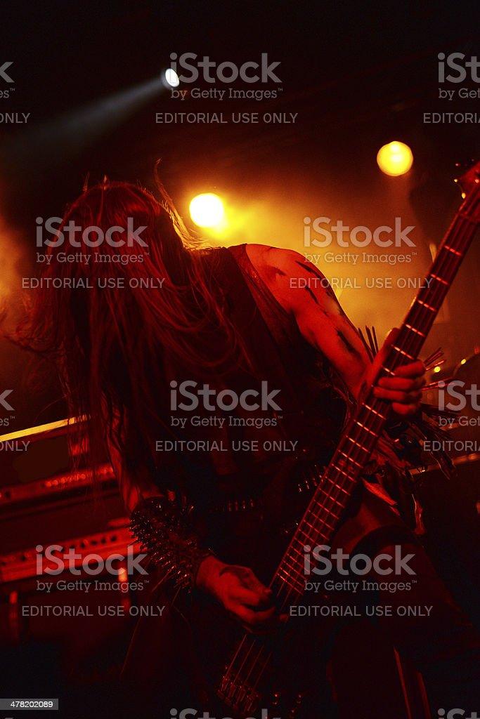 Svarttjern bass player DezeptiCunt royalty-free stock photo