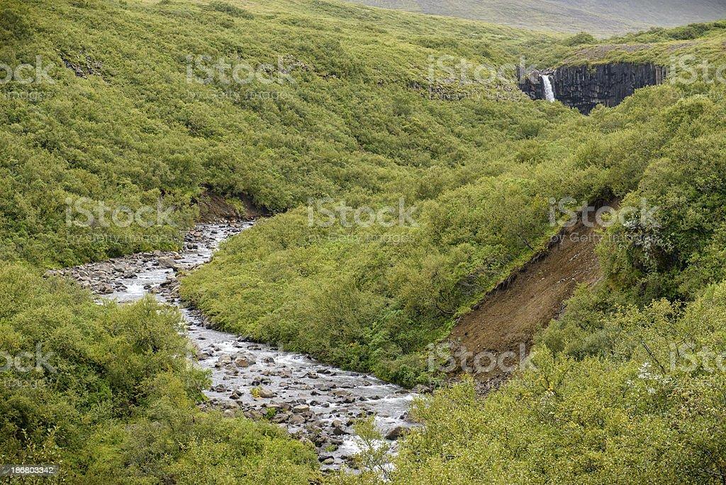 Svatifoss waterfall royalty-free stock photo
