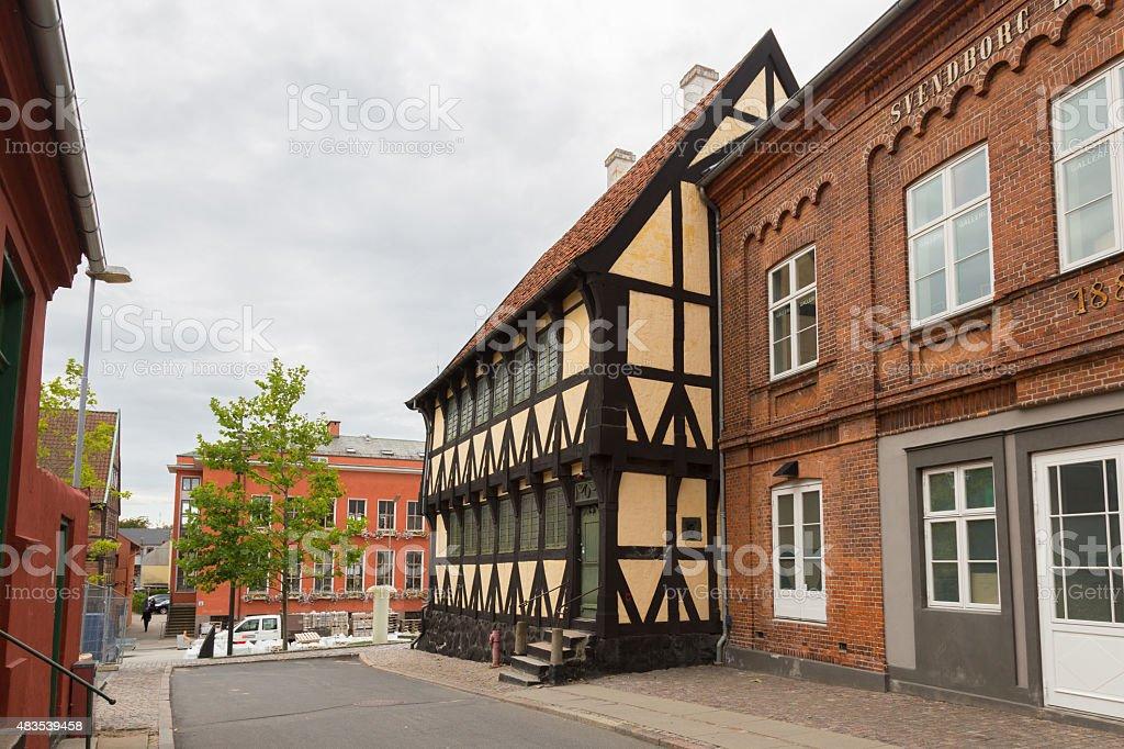 Svbendborg half timbert stock photo