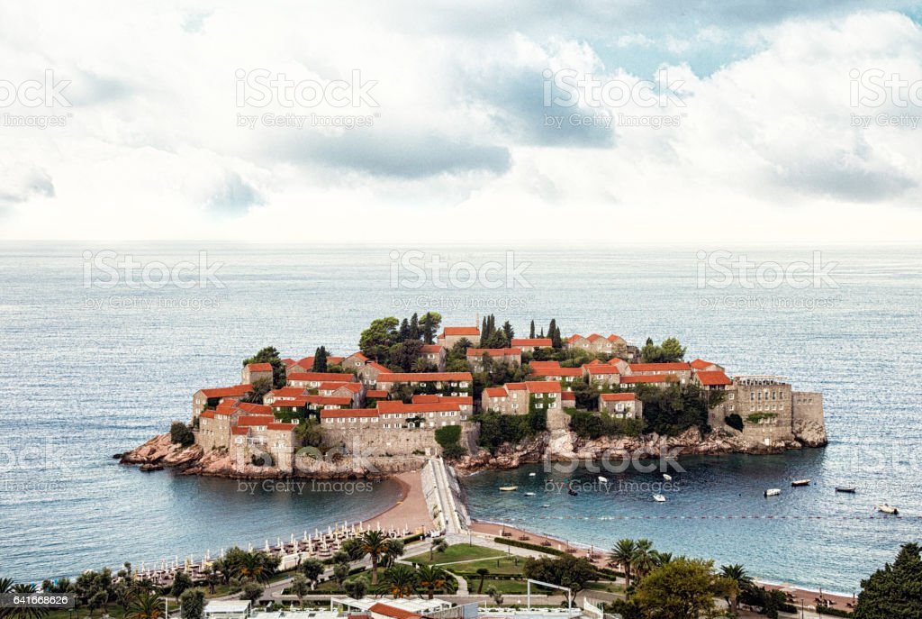 Sveti Stefan, Budva, Montenegro stock photo