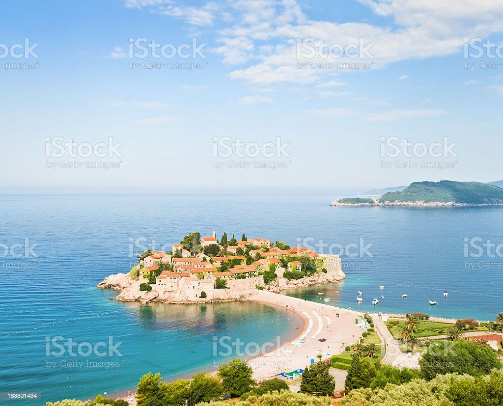 Sveti Stefan in Montenegro stock photo