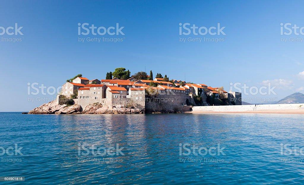 Sveti Stefan Island. Budva -Montenegro. stock photo