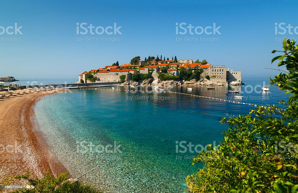 Sveti Stefan, Montenegro stock photo