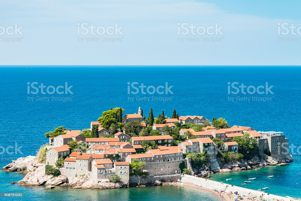 Sveti Stefan Montenegro stock photo