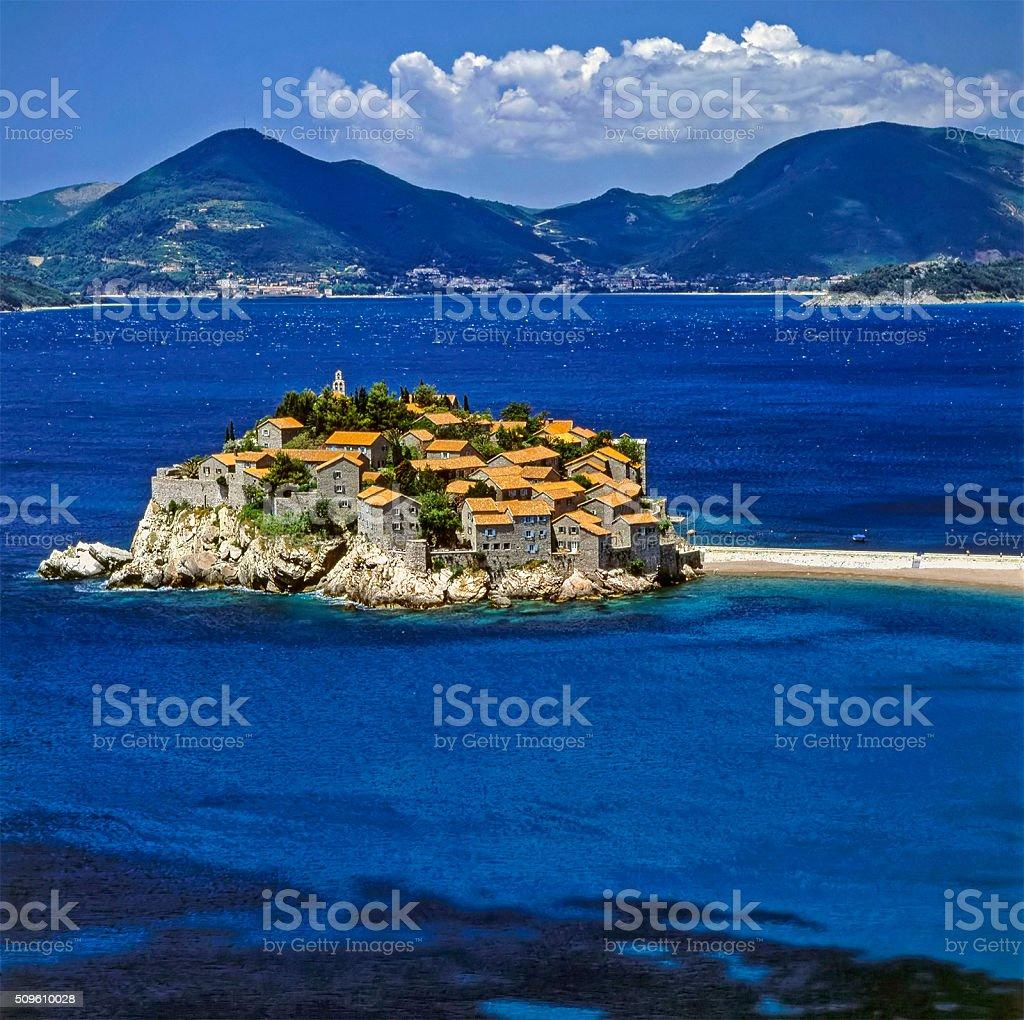 Sveti Stefan, Montenegro stock photo