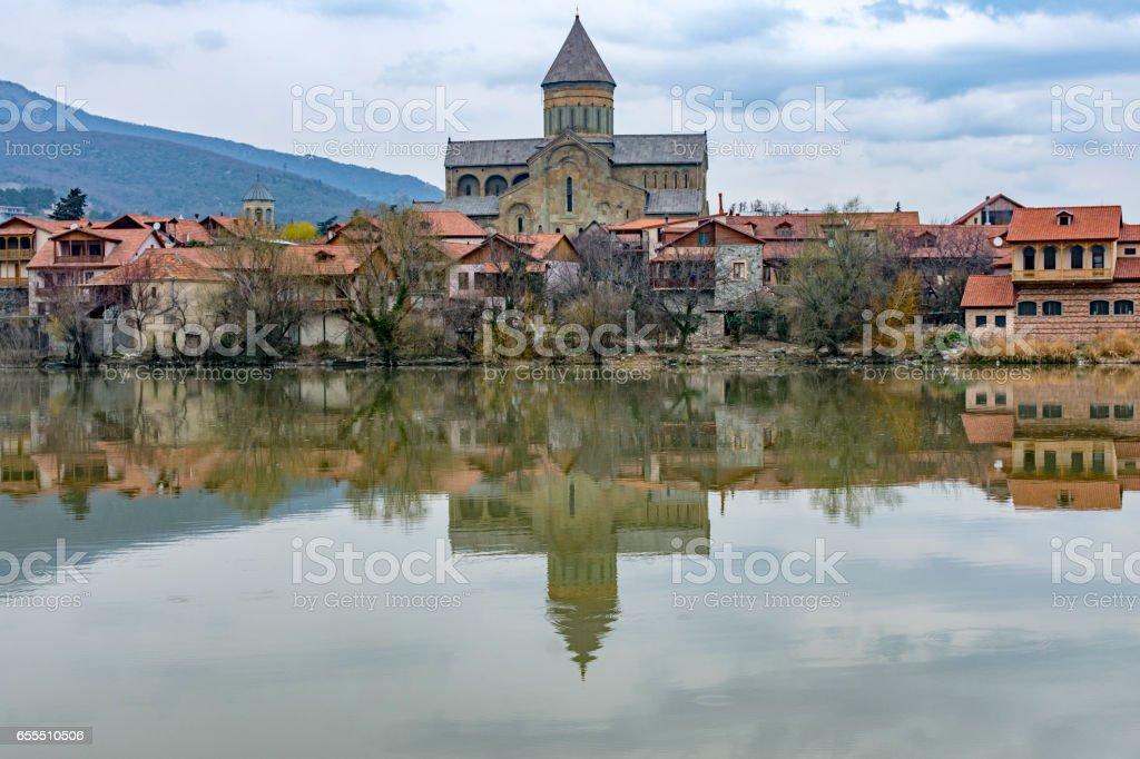 Svetitskhoveli catedral in Mtskheta stock photo