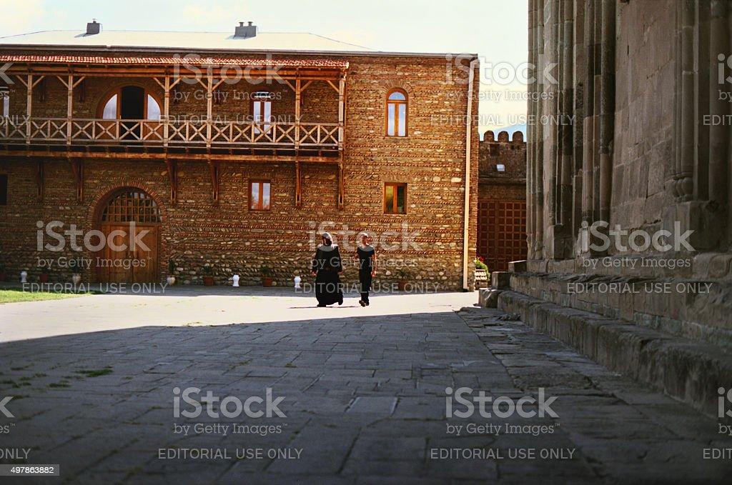 Svetitskhoveli Cathedral, Mtskheta, Georgia. stock photo